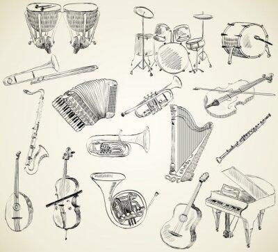 Canvastavlor musikinstrument