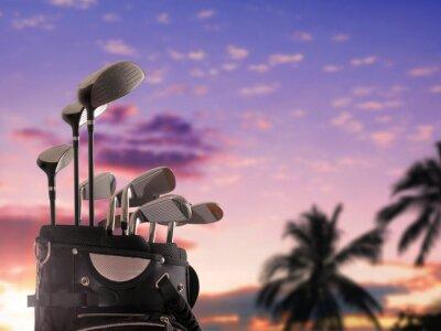 Canvastavlor närbild av en golfbag