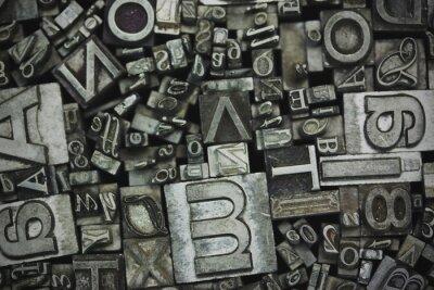 Canvastavlor Närbild av typeset bokstäver
