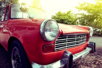 Canvastavlor närbilder strålkastare färgrik veteranbil