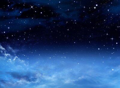 Canvastavlor Natthimlen med stjärnor