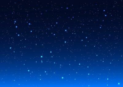 Canvastavlor Natthimlen. Stjärnor i natthimlen