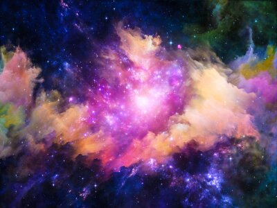Canvastavlor Nebula designen