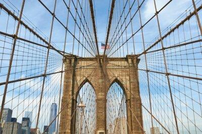 Canvastavlor Nedre Manhattan skyline utsikt från Brooklyn