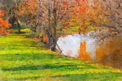 Canvastavlor Nere vid sjön
