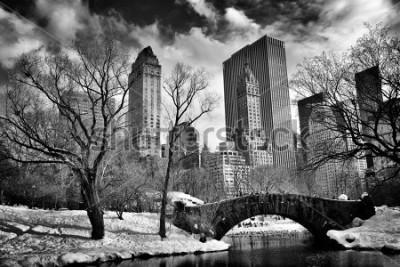Canvastavlor New York City - Central Park in winter -Gapstow bridge