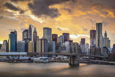 Canvastavlor New York City horisont