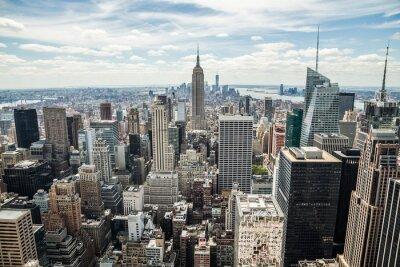 Canvastavlor New York City Manhattan Midtown byggnader skyline utsikt