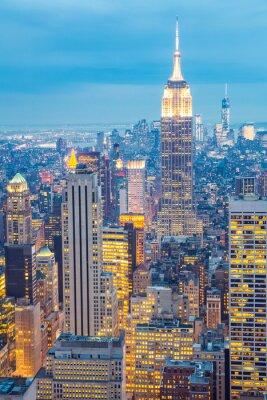 Canvastavlor New York horisont skymning USA