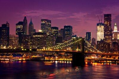 Canvastavlor New York-pont de Brooklyn