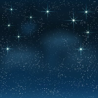 Canvastavlor Night stjärnhimlen