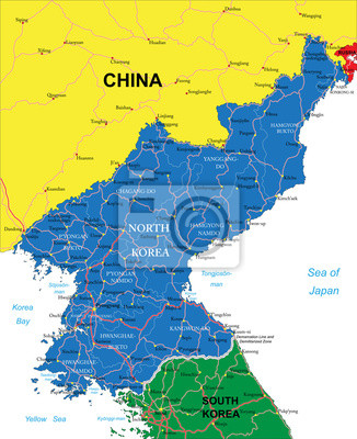 Nordkorea Karta Canvastavlor Pa Vagg Tavlor Sydkorea Seoul