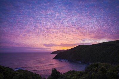 Canvastavlor Nugget Point Catlins Nya Zeeland kväll