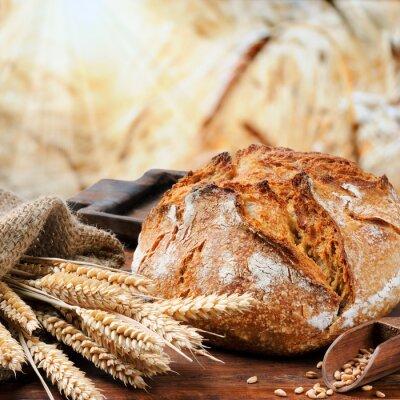 Canvastavlor Nybakat traditionella bröd
