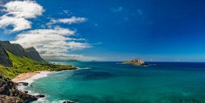 Canvastavlor Oahu östkust visa landskap