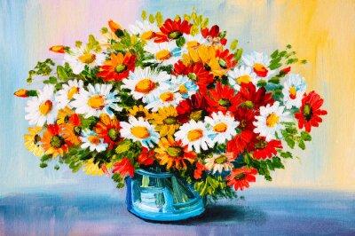 Canvastavlor Oil Painting - stilleben, en bukett blommor