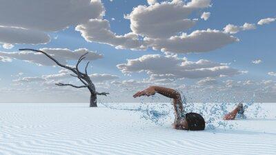 Canvastavlor Ökensanden simmare