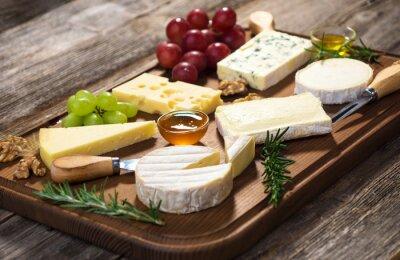Canvastavlor Olika typer av ost
