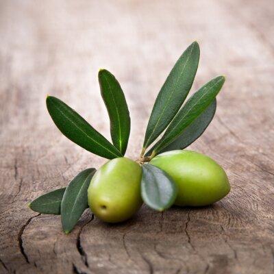 Canvastavlor oliver med blad