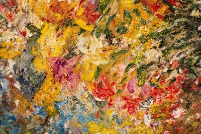 Canvastavlor Oljemålning bakgrunden. Konstbegrepp.