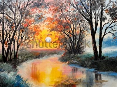 Canvastavlor oljemålning på duk - floden