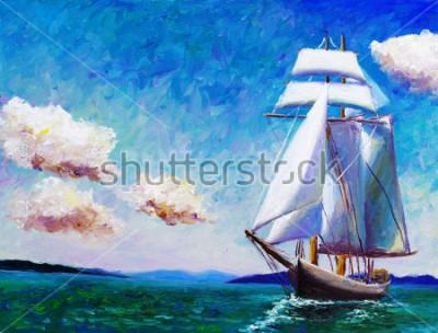 Canvastavlor Oljemålning - Segelbåt