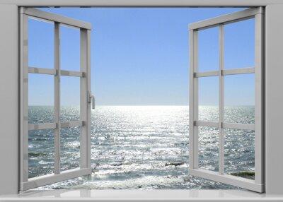 Canvastavlor Öppna Fönster till Summertime - 3D