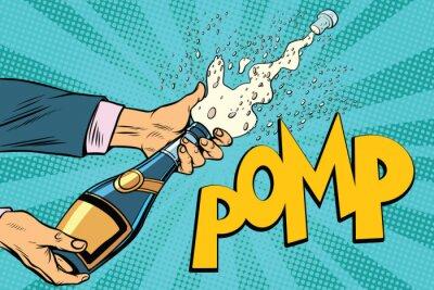 Canvastavlor Öppnar champagneflaskor popkonst