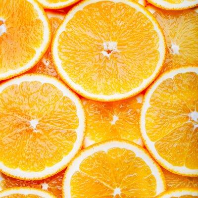 Canvastavlor Orange skivor bakgrund