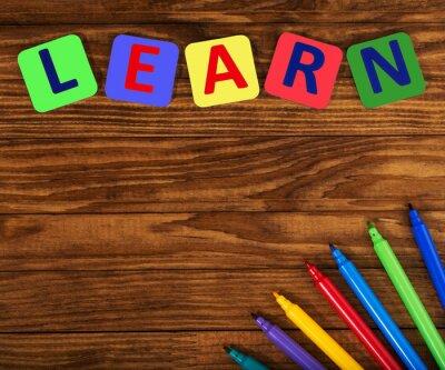 Canvastavlor ordet lära