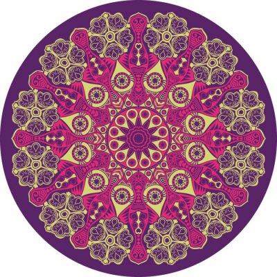 Canvastavlor ornamental runda hålmönster, cirkel bakgrund med många detai