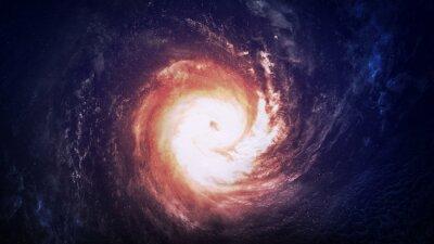 Canvastavlor Otroligt vackra spiralgalax någonstans i rymden. Delar av denna bild som tillhandahålls av NASA