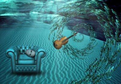 Canvastavlor Overklig Underwater Scene