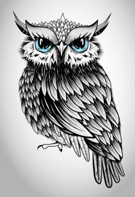 Canvastavlor Owl Lady - härlig vektorillustration