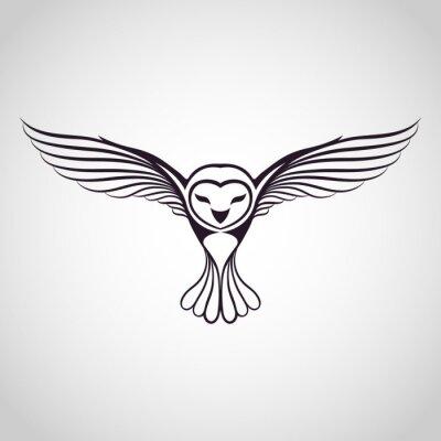 Canvastavlor owl logo