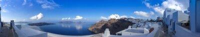 Canvastavlor Panorama à Fira à Santorin, les Kykladerna en Grèce