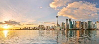 Canvastavlor Panorama av Toronto horisont på solnedgången i Ontario, Kanada.