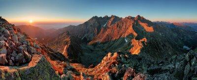 Canvastavlor Panorama berg höst landskap
