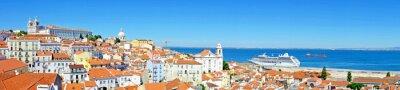 Canvastavlor Panorama från Lissabon i Portugal