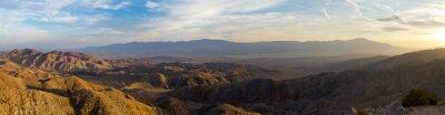 Canvastavlor Panoramautsikt över Ökenlandskap