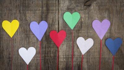 Canvastavlor papper hjärtan