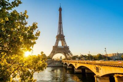 Canvastavlor Paris Eiffelturm Eiffeltornet Tour Eiffel