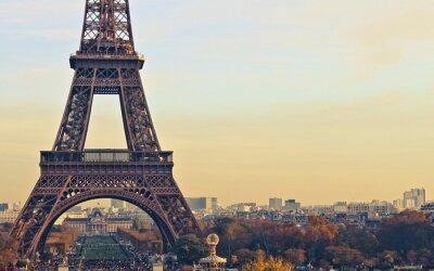 Canvastavlor Paris Frankrike Eiffeltornet
