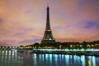 Canvastavlor Paris stadsbild med Eiffeltornet