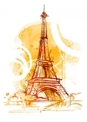 Canvastavlor Paris Summer