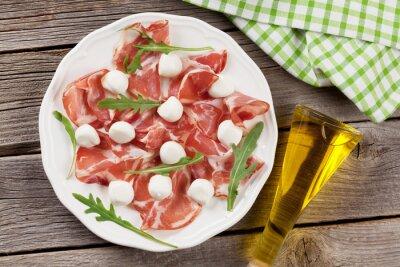 Canvastavlor Parmaskinka och mozzarella