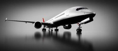 Canvastavlor Passagerarflygplan i studio eller hangar. Flygplan, flygbolag