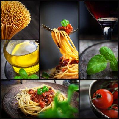 Canvastavlor pasta collage