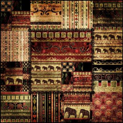 Canvastavlor Patchwork afrikansk mönster tryckbakgrund