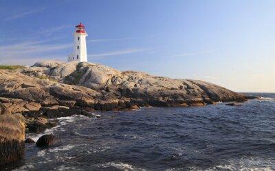 Canvastavlor Peggy Cove Lighthouse, Nova Scotia, Kanada